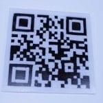 Fused glass QR code