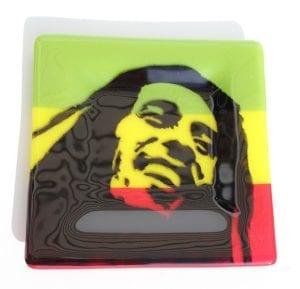 Bob Marley Glass Plate or Ashtray