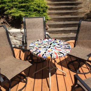Art Glass Mosaic Table