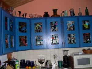 Tropical fused glass kitchen